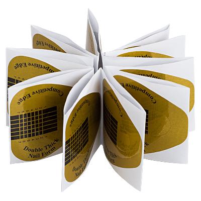 Купить IRISK PROFESSIONAL Формы широкие золотые в пакете 20 шт