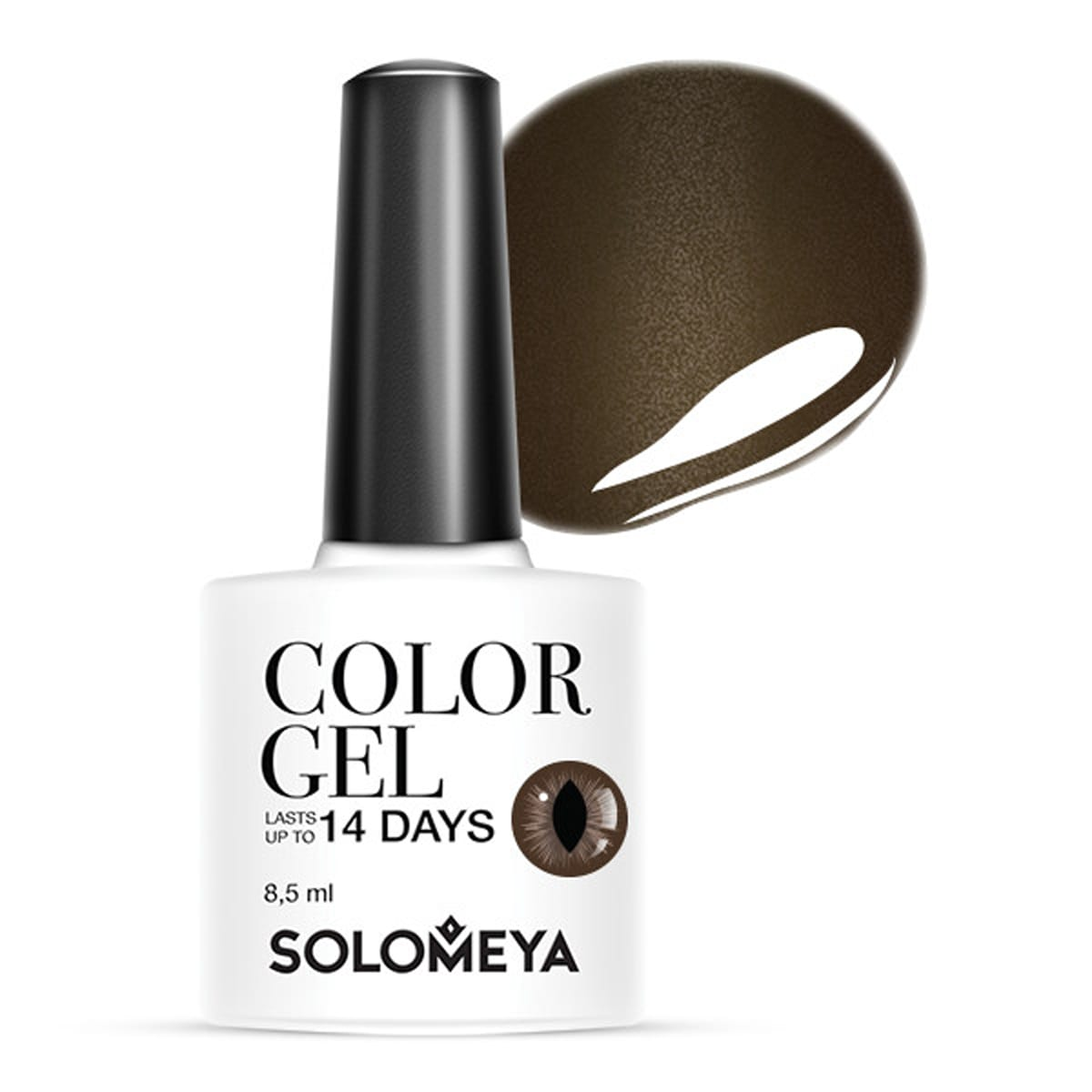 SOLOMEYA Гель-лак для ногтей SCE003 Кошачий глаз, темно-коричневый / Cat Eye Gel Dark Brown 8,5 мл цена