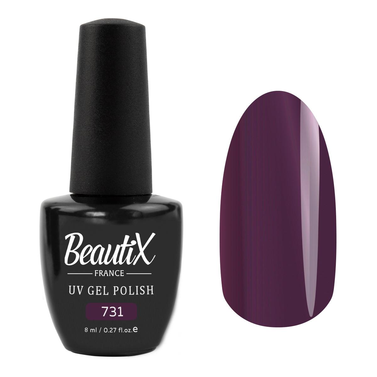 Купить BEAUTIX 731 гель-лак для ногтей / LA SENSATION 8 мл, Фиолетовые