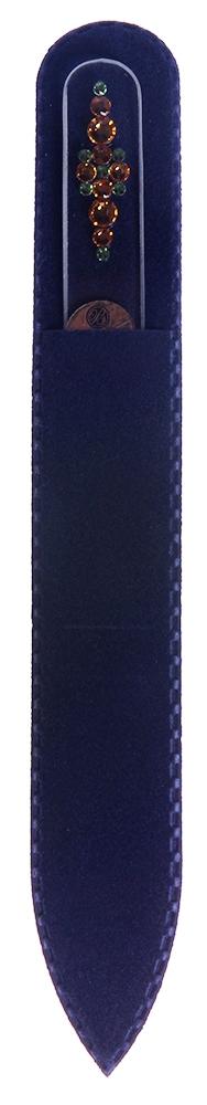 BOHEMIA PROFESSIONAL Пилочка стеклянная прозрачная Орнамент 4 135ммПилки для ногтей<br>Нет ничего лучше для натуральных ногтей, чем пилка из богемского хрусталя. Данный материал имеет практически неограниченный срок использования. Пилки Bohemia Professional имеют наиболее стойкий абразив. Пилка из богемского хрусталя также может стать стильным аксессуаром или красивым подарком. Bohemia Professional представляет Вам огромный выбор прозрачных и цветных пилок с декором: ручная роспись, декорация стразами, пилки с логотипом, и полноцветные изображения. Инструмент можно стерилизовать и обрабатывать химическими дезинфекторами, антисептиками.<br>