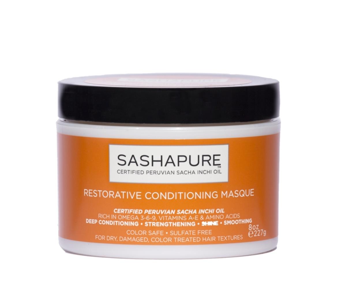 SASHAPURE Маска восстанавливающая бессульфатная для волос с натуральными маслами / Conditioning Masque 227 мл  - купить | Squper