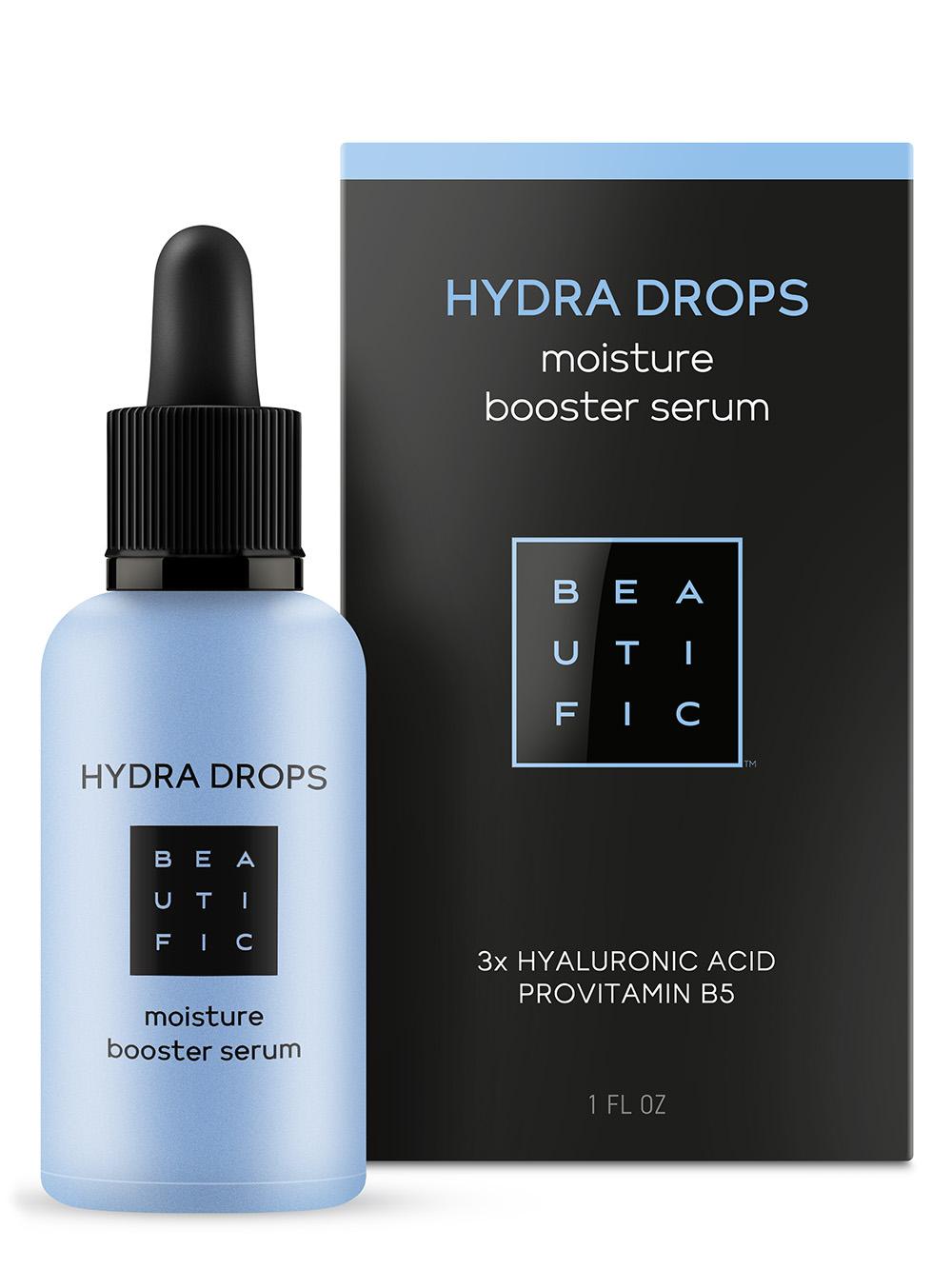BEAUTIFIC Сыворотка-бустер для увлажнения с 3 видами гиалуроновой кислоты и витамином В5 / Hydra Drops 30 мл фото