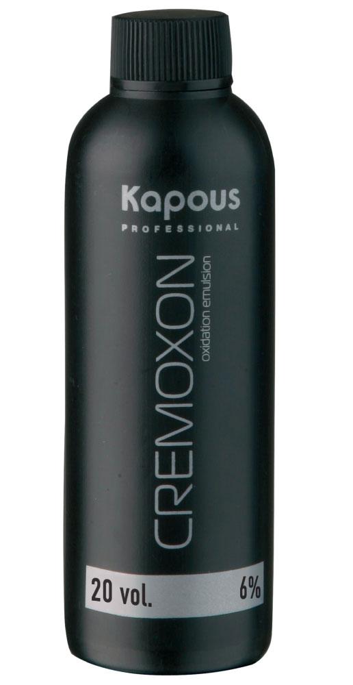 KAPOUS Эмульсия окисляющая 6% / Cremoxon 150млОкислители<br>6% - для окрашивания тон в тон и на 1 тон светлее исходного цвета. Специальный крем-оксид для использования с кремами-красками KAPOS PROFESSIONAL. Богатый комплекс природных питательных веществ и стабилизаторов оптимально защищает волосы в процессе окрашивания. Перемешивание косметического средства с кремами-красками позволяет Вам достичь стойких желаемых цветов и оттенков, со всем возможным многообразием палитры. Специальная формула KREMOXON KAPOUS легко соединяется с кремами-красками. Краска легко наносится, вымешивается и равномерно распределяется на волосах. В процессе окрашивания препарат не стекает, тем самым обеспечивая равномерное окрашивание. Безупречно сочетается с крем-красками Kapous, а так же со всеми обесцвечивающими средствами Kapous. Способ применения: применение крем-краски Kapous невозможно без проявляющего крем-оксида Cremoxon Kapous. Краски отличаются высокой экономичностью при смешивании в пропорции 1 часть крем-краски и 1,5 части крем-оксида 6%. Для наиболее эффективной защиты волос при окрашивании, равномерно нанесите KAPOUS CREMOXON непосредственно перед окрашиванием.<br><br>Содержание кислоты: 6%<br>Класс косметики: Косметическая