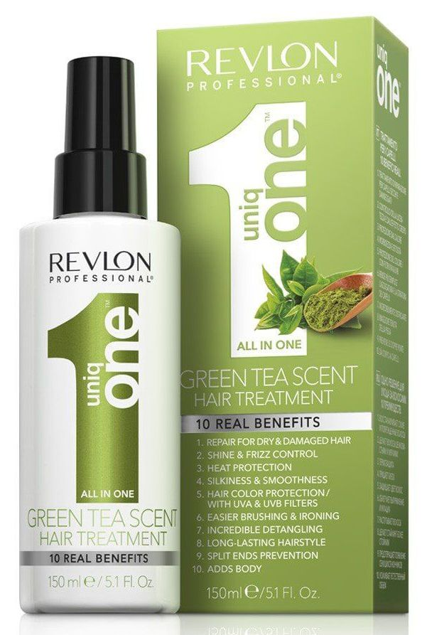 REVLON PROFESSIONAL Спрей маска с ароматом зеленого чая для волос / Uniq One Green Tea Scent Hair Treatment 150 мл фото