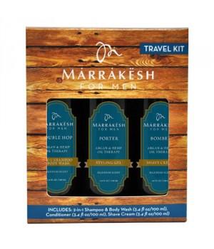 MARRAKESH Набор для мужчин (шампунь-гель для душа 2 в1, крем для бритья, стайлинг-гель) / TRAVEL KIT 3 x100млНаборы<br>Дорожный набор для мужчин Marrakesh for Men Travel Kit, 3х100 мл В набор входит: - шампунь/гель для душа 2 в 1&amp;nbsp; - крем для бритья - стайлинг-гель<br><br>Пол: Мужской