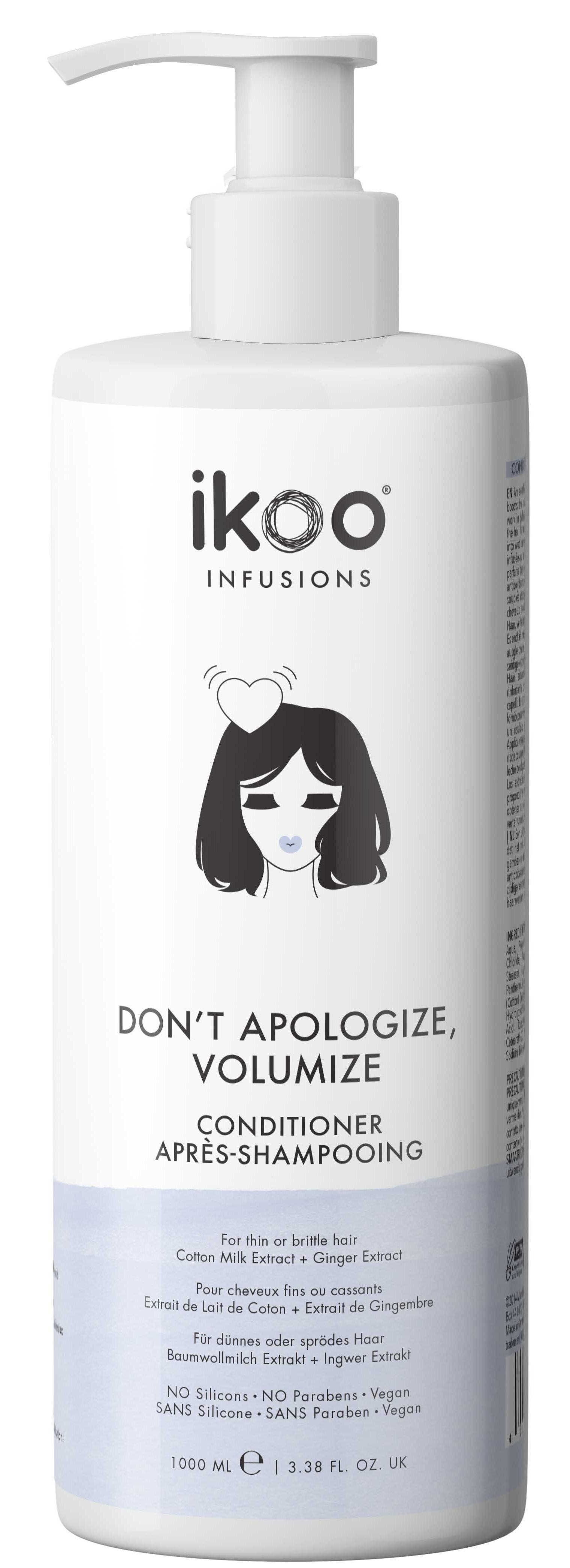 Купить IKOO Кондиционер для волос Непростительный объем / Conditioner Don't Apologize, Volumize 1000 мл