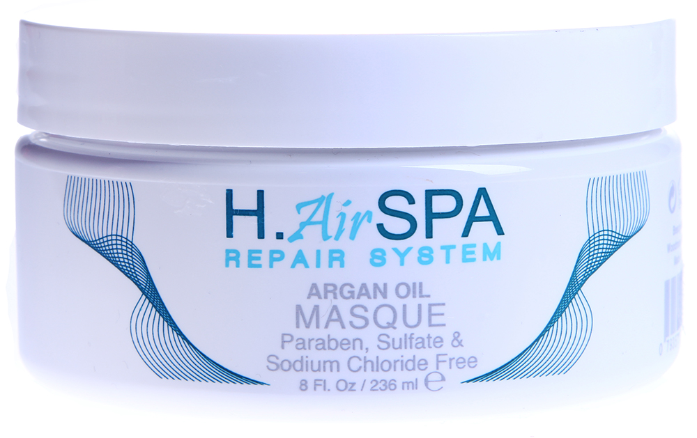 H AIRSPA Маска на масле арганы / Argan Oil Mask 236млМаски<br>Глубоко питает и восстанавливает волосы. При частом использовании волосы вновь приобретают блеск и управляемость. Идеально для поврежденных волос. Не вымывает цвет окрашенных волос, придает блеск и силу. Без сульфатов и парабенов. Активные ингредиенты: масло арганы. Способ применения: на подсушенные полотенцем волосы нанесите маску от корней до кончиков. Оставьте на 5-10 минут. Смойте. Для лучшего эффекта можно использовать полиэтиленовую шапочку. Используйте 1 или 2 раза в неделю.<br><br>Назначение: Секущиеся кончики