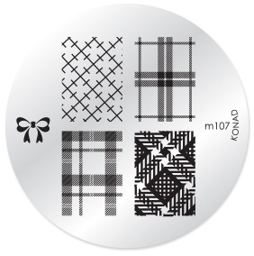 KONAD Форма печатная (диск с рисунками) / image plate M107 10гр декор для маникюра konad печатная форма диск image plate m102