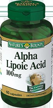 NATURE'S BOUNTY Альфа-липоевая кислота, капсулы 100 мг № 60