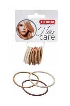 TITANIA Резинки для волос, 3 цвета светлые 3 см 12 шт/уп 7803