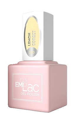 Купить E.MI 200 PR гель-лак для ногтей, Лимонное сорбе / E.MiLac 6 мл, Желтые