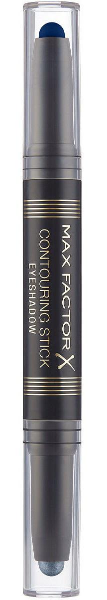 Купить MAX FACTOR Тени двухсторонние для век 003 / Сontouring Stick Eyeshadow midnight blue silver storn 20 г