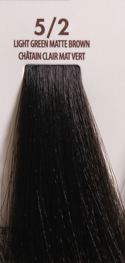 MACADAMIA Natural Oil 5/2 краска для волос / MACADAMIA COLORS 100млКраски<br>5/2 светлый зелено матовый каштановыйПрофессиональный кремообразный краситель на основе масла макадамии сохраняет волосы здоровыми, живыми, мягкими и блестящими. Уникальная и хорошо продуманная формула красителя обеспечивает четкие, предсказуемые, последовательные и стойкие результаты. Основа красителя - масла макадамии и арганы, которые проникают в структуру волос для сохранения целостности структуры, восстановления и укрепления. Комбинация всех ингредиентов красителя создает яркие, роскошные оттенки с потрясающей стойкостью. Все цвета можно смешивать между собой, создавая бесконечное множество оттенков. С этим красителем каждый стилист может выйти за рамки повседневности, позволяя своему воображению воплощать в жизнь любые творческие идеи. Преимущества: Прост в применении Удобен в работе как для начинающего мастера, так и для опытного стилистаУникальная и хорошо продуманная формула красителя обеспечивает чёткие и предсказуемые результаты окрашиванияЭкономичен в работе Пропорция смешивания красителя с окислителем от 1 к 1.5 до 2.5 позволяют сократить расход красителя на каждого клиентаУвеличенная стойкость цвета Благодаря уменьшенному размеру, пигменты и масла способны более глубоко проникать в кортекс волоса и удерживаться там на более длительный срокВходящие в состав масла, служат проводником пигментов в кортекс волосаМногообразие оттенков Богатая палитра из 92 оттенковМножество модных и актуальных оттенков, таких как нейтрально-коричневый, бежевый, шоколадно-коричневые и т.д. Создание цвета и СПА уход в одном флаконе Результат окрашивания   стойкие, красивые и насыщенные оттенки. Уникальная комбинация пигментов и масел дополнительно увлажняет волосы и позволяет минимизировать вред, наносимый окрашиванием. Активные ингредиенты: масло макадамии, масло арганы.<br><br>Цвет: Бежевый и коричневый
