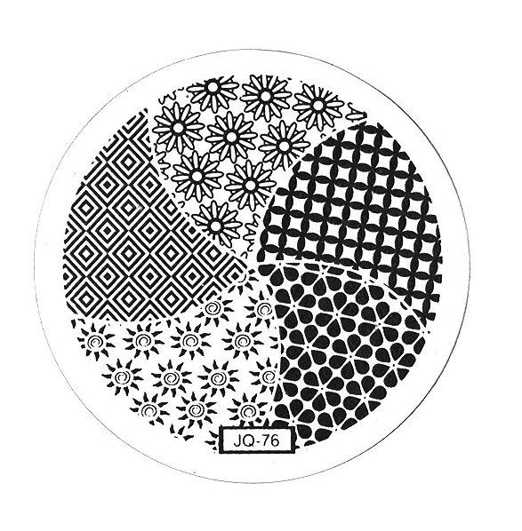 TNL PROFESSIONAL Трафарет металлический малый для стемпинга Цветочный калейдоскоп (в индивидуальной упаковке)