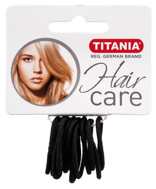 Купить TITANIA Резинки для волос, черные 3 см 12 шт/уп 7800