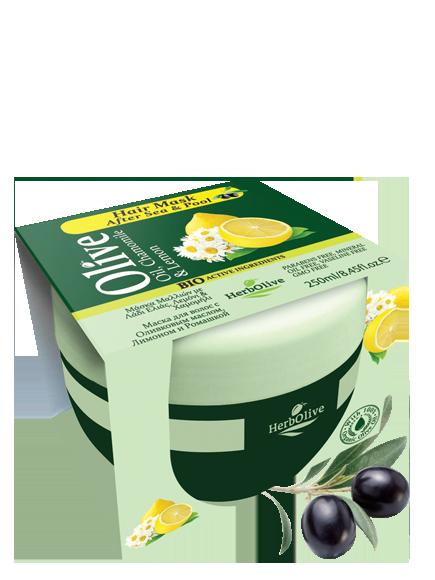 MADIS Маска для волос с маслом оливы, ромашкой и лимоном / HerbOlive 250 мл -  Маски