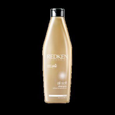 REDKEN Шампунь для сухих и ломких волос / ALL SOFT 300млШампуни<br>Олл Софт содержит масло авокадо, протеины аминокислоты для глубокого ухода и направленного долговременного увлажнения, гладкости и роскошной мягкости волос. Насыщенная формула мягко очищает волосы, делая их мягкими и гладкими послушные и шелковистые. Комплекс Silk-Luxe: Gold camelina для роскошного сияния волос, масло авокадо для гладкости, оливковое масло укрепляет волос изнутри и придает неповторимую мягкость, аминокислоты шелка для восстановления нехватки протеинов. Эксклюзивная Interbond Conditioning System Валентная Система Ухода и комплекс ультра-блеска Silk - Luxe воздействуют на волос изнутри, доставляя активный компоненты для направленного долговременного увлажнения, укрепления изнутри и максимальной мягкости.  Способ применения: Распределить по влажным волосам, помассировать, смыть<br>