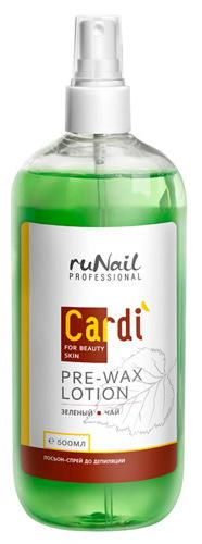 Купить RuNail Лосьон-спрей до депиляции, зеленый чай / Cardi 500 мл