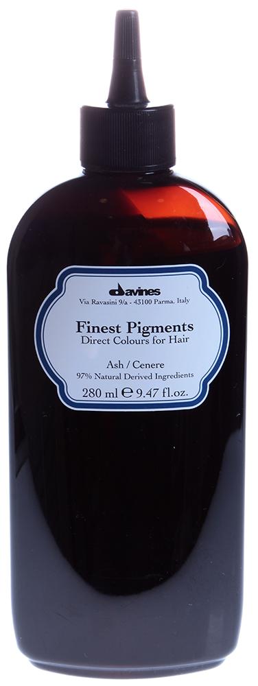 DAVINES SPA Краска для волос Прямой пигмент Ash-Пепельный / FINEST PIGMENTS 280млКраски<br>Davines Finest Pigments &amp;mdash; это гибкая система окрашивания, которая позволяет применять все оттенки в чистом виде или смешивать их между собой. Природный состав этой краски позволяет использовать его сразу после химической завивки или после обработки смягчающими средствами. Davines Finest Pigments заполняет собой неровности и шероховатости волоса, особенно выраженные у травмированных, секущихся и пересушенных волос, за счет чего они становятся гладкими, эластичными и блестящими. Тоненькая пленка, обволакивающая каждый волос, запирает пигменты, проникшие из Davines Finest Pigments в волос, не давая им вымываться, надолго сохраняя цвет, делая волосы защищенными, придавая волосам дополнительную толщину а, значит, густоту. Результат тонирования Davines Finest Pigments сохраняется 2-3 недели. Цвет: Аsh-пепельный. Применение: Действие Davines Finest Pigments очень похоже на известную всем процедуру ламинирования. Только сама процедура тонирования гораздо проще. Краситель необходимо наносить на чистые сухие волосы. Время воздействия зависит от структуры и качества волос и составляет 5-20 минут. По окончании этого времени волосы следует намочить и аккуратно смыть краситель. Вот, собственно, и все. Результат же превзойдет ожидания. Волосы не только приобретут новый модный оттенок. Они станут гораздо здоровее   вы это увидите и почувствуете.<br><br>Цвет: Корректоры и другие<br>Объем: 280