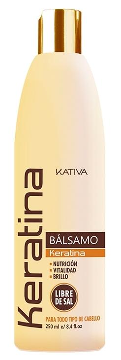 Купить KATIVA Бальзам-кондиционер укрепляющий с кератином для всех типов волос / KERATINA 250 мл