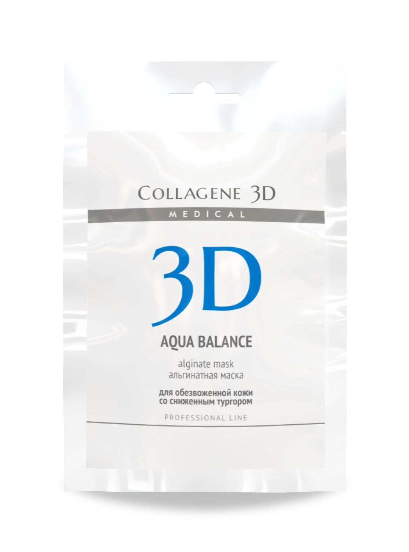MEDICAL COLLAGENE 3D Маска альгинатная с гиалуроновой кислотой для лица и тела Aqua Balance 30грМаски<br>Для усиления эффекта разглаживания кожи рекомендуется использовать альгинатную маску AQUABALANCE с гиалуроновой кислотой и гидролизатом коллагена. Легкая консистенция и удобное время застывания позволят добиться лучших результатов при максимальном комфорте пациента. Чистая альгинатная масса сама по себе интенсивно увлажняет, разглаживает кожу, оказывает дренажное действие, стимулирует кровообращение, что позволяет добиться впечатляющих результатов при проведении экспресс-процедур. Наши технологи взяли лучшее сырье французского производства и усилили его современными активными компонентами для достижения направленного эффекта от процедуры. Гиалуроновая кислота способствует нормализации водного баланса, разглаживает морщины изнутри, а гидролизат коллагена насыщает верхние слои кожи аминокислотами, обеспечивает питательный эффект, стимулирует омоложение. Активные ингредиенты: альгинат натрия, гиалуроновая кислота, гидролизат коллагена. Способ применения: перед применением альгинатной маски рекомендуется в качестве концентрата на очищенную кожу нанести коллагеновую гель-маску серии MEDICAL COLLAGENE 3D и сделать легкий массаж. Альгинатную маску подготовить непосредственно перед применением. Порошок смешать с водой комнатной температуры (20-25 С) в пропорции 1:3 до состояния однородной массы. С помощью шпателя равномерно нанести на кожу. Через 15 минут снять маску единым пластом. В завершение процедуры протереть лицо Фитотоником NATURAL FRESH и нанести коллагеновый крем серии MEDICAL COLLAGENE 3D.<br><br>Типы кожи: Сухая и обезвоженная<br>Назначение: Морщины