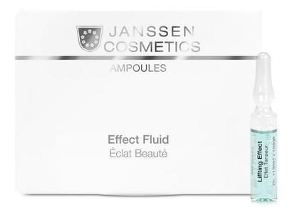 JANSSEN Концентрат ампульный Лифтинг-эффект / Lifting Effect AMPOULES 7*2млАмпулы<br>Концентрат для немедленного подтягивающего эффекта. Увлажняет и освежает кожу, повышает эластичность, разглаживает мелкие морщинки, придает коже здоровый вид. Идеален под макияж. Активные ингредиенты: экстракт водорослей, пуллулан (полисахарид), гиалуроновая кислота с длинной цепью. Способ применения: оберните ампулу бумажной салфеткой и резким движением отломите ее кончик. Вылейте содержимое ампулы на ладонь и затем распределите его по коже слегка надавливающими движениями. Поверх нанесите соответствующий дневной или ночной крем. Только для наружного применения! В салоне применять согласно регламенту процедуры.<br><br>Вид средства для лица: Подтягивающий