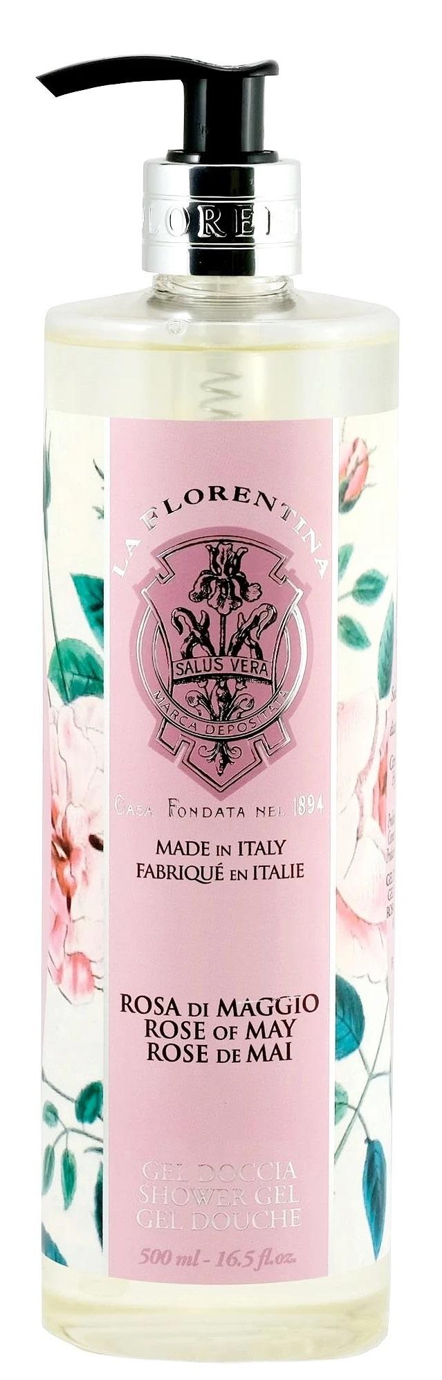 LA FLORENTINA Гель для душа, майская роза / Rose of May 500 мл