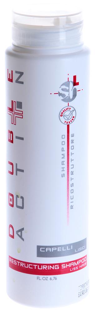HAIR COMPANY Шампунь восстанавливающий для прямых волос / Shampoo Capelli Liscii DOUBLE ACTION 200млШампуни<br>Шампунь восстанавливающий для прямых волос регулирует уровень pH кожи, придает волосам объем, эластичность и здоровый блеск. Благодаря активным компонентам экстракту пшеницы и креатину &amp;ndash; шампунь способствует восстановлению, защите волос. Активный состав: Экстракт пшеницы, креатин. Применение: Нанесите небольшое количество шампуня на влажные волосы, мягко массируя кожу головы, затем сполосните теплой водой. При необходимости повторите процедуру.<br><br>Объем: 200<br>Вид средства для волос: Восстанавливающий