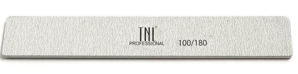 Купить TNL PROFESSIONAL Пилка широкая для ногтей 100/180, серая (в индивидуальной упаковке)