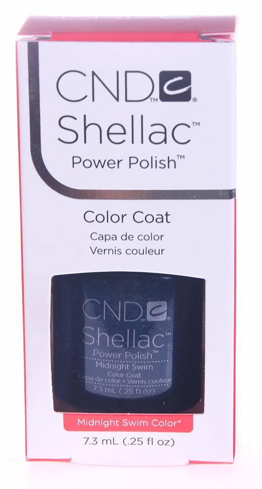 CND 048 покрытие гелевое Midnight Swim / SHELLAC 7,3мл cnd 083 покрытие гелевое bare chemise shellac 7 3мл