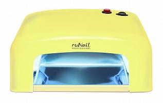 RuNail Прибор ультрафиолетового излучения 36 Вт GL-515, желтый runail прибор led uv излучения 24вт светло розовый