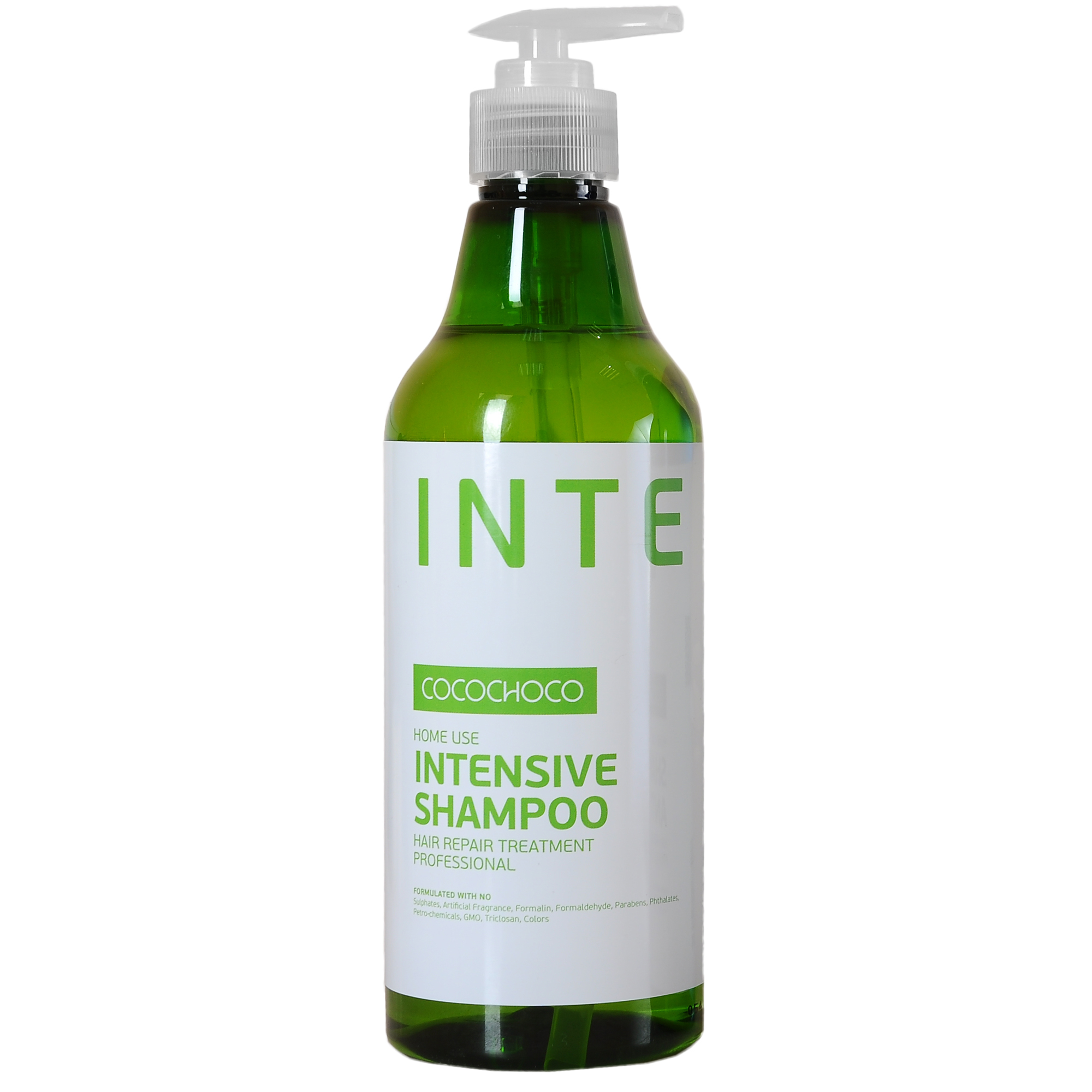 COCOCHOCO Шампунь для интенсивного увлажнения / INTENSIVE 500 млШампуни<br>Шампунь Intensive Shampoo для интенсивного увлажнения и ухода за сухими и повреждёнными волосами. Глубоко проникает в структуру волоса, питает от корней до самых кончиков, устраняет и предотвращает ломкость, облегчает расчёсывание. Идеально подходит как средство ухода после процедуры кератинового восстановления волос. Способ применения: нанесите на влажные волосы массируя, равномерно распределите по волосам. Добавьте еще немного воды и помассируйте снова. Оставьте на 1-2 минуты. Тщательно смойте и повторите при необходимости. Активные ингредиенты: KERAMIMIC   натуральный кватернизированный кератин, технология биомиметики воссоздает материю волоса, восстанавливает полипиптидные цепочки, саморегулируемая формула. MIRUSTYLE   снижает пушистость, придает гладкость волосам, отлично работает как на прямых, так и на вьющихся волосах. LUSTRAPLEX   интенсивный компонент глубокого действия, распутывает волосы и облегчает расчесывание, придает сияние и блеск.<br><br>Объем: 500 мл<br>Вид средства для волос: Увлажняющий