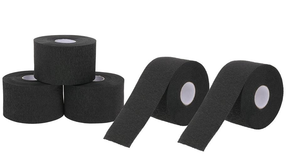 IGROBEAUTY Воротнички бумажные, цвет черный 5 рулонов по 100 шт