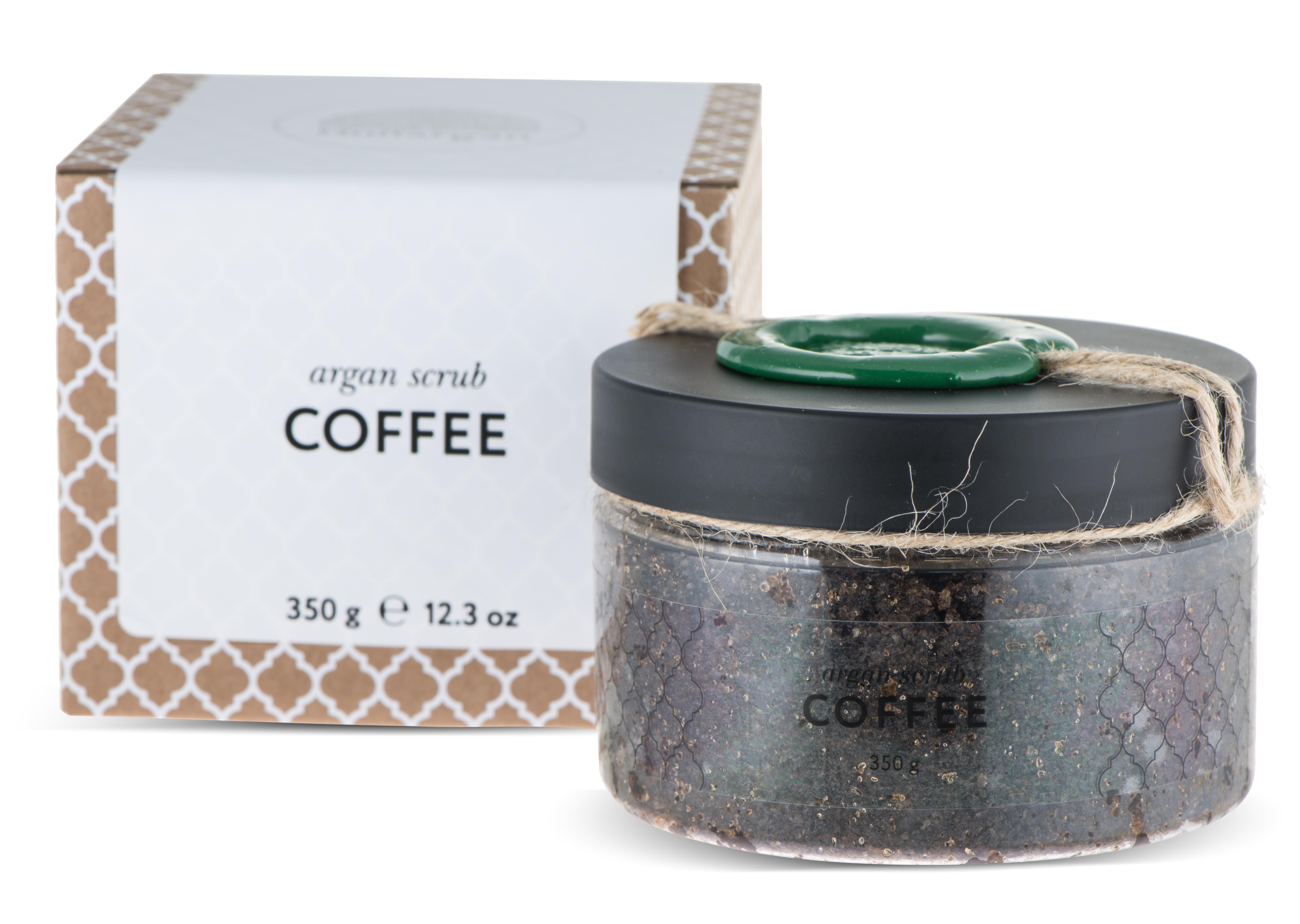 HUILARGAN Скраб аргановый солевой для тела, кофейный 350 г