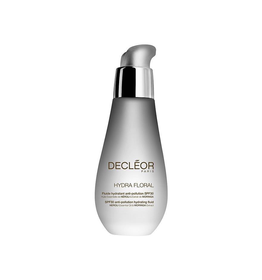 DECLEOR Флюид увлажняющий для всех видов кожи SPF30 / HYDRA FLORAL NEROLI 50млФлюиды<br>Увлажняющий флюид с очень высокой степенью защиты от УФ. Для всех типов кожи, для любой погоды , чтобы полностью защитить кожу от 3 видов загрязнений. Моментальное и пролонгированное увлажнение.Оставляет нежную, легкую вуаль на кожи без жирного блеска и липкости. Не оставляет белого налета, не закупоривает поры. Без парабенов. Без минеральных масел . Без красителей. Глубоко увлажненная кожа, сияющая красотой. Способ применения: нанесите утром на предварительно очищенные лицо и шею после Ароматической эссенции Нероли<br><br>Защита от солнца: None<br>Вид средства для лица: Увлажняющий<br>Возраст применения: После 25