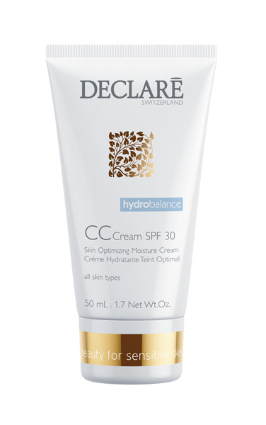 DECLARE Крем  Оптимальное увлажнение  с SPF 30 / CC Cream 50млКремы<br>Многофункциональное средство с невесомой текстурой легко впитывается, делает кожу гладкой, увлажненной, улучшает цвет лица. Обеспечивает надежную защиту от негативного воздействия окружающей среды и является эффективным помощником в борьбе с преждевременным старением кожи. Легкий тон придает коже естественный и невероятно свежий вид, улучшает качество кожи при гиперемии, уменьшает выраженность возрастных изменений. Кожа выглядит ухоженной, и прекрасно защищена на весь день. Активные ингредиенты: SRC-Complex , растительный комплекс из D-глюкозы (пшеница) пентавитин , УФ-Фильтр SPF 30, эктоин, оргазол, гриб  лиственничная губка . Способ применения: наносить средство на очищенную кожу лица, шеи и декольте.<br><br>Объем: 50 мл