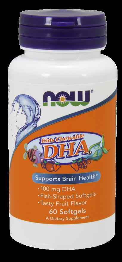 NOW FOODS Докозагексаеновая кислота (DHA), пастилки 892,8 мг № 60