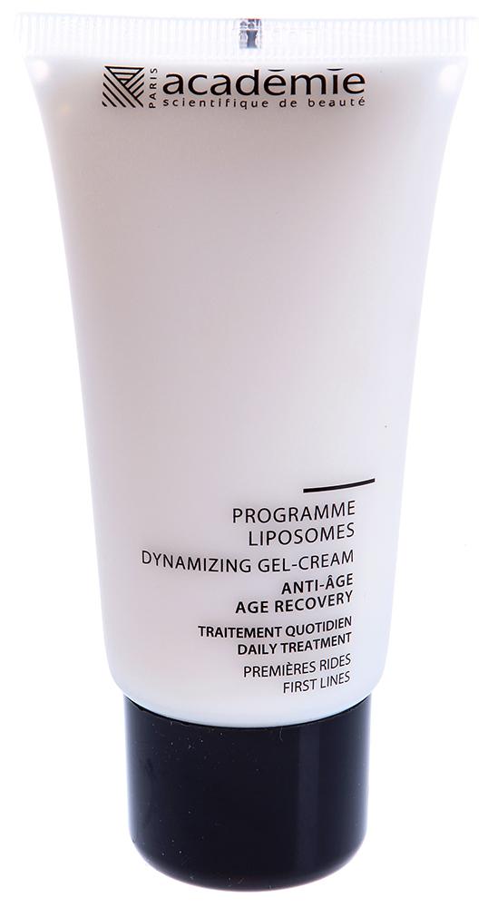 ACADEMIE Гель-крем Programme Liposomes / VISAGE 50млКремы<br>Крем для кожи с первыми признаками старения. Разглаживает сеть мелких морщин, питает и глубоко увлажняет кожу. Усиливает обменные процессы, наполняет кожу энергией, запускает регенерацию. Кожа выглядит моложе, старение отложено. Результат: Первые морщины разглажены, кожа вновь молодая и наполненная сиянием. Активные ингредиенты: липосомальный комплекс: 12.5%, масло жожоба: 3%, увлажняющий агент: 3%, гипоаллергенный активный ингредиент: 0.2%, экстракт мимозы: 0.1%, концентрация активных ингредиентов 18,8%. Способ применения:&amp;nbsp;использовать 2 раза в день. Нанести крем на очищенную и тонизированную кожу, впитать массажными движениями.<br><br>Объем: 50 мл<br>Вид средства для лица: Увлажняющий<br>Назначение: Морщины