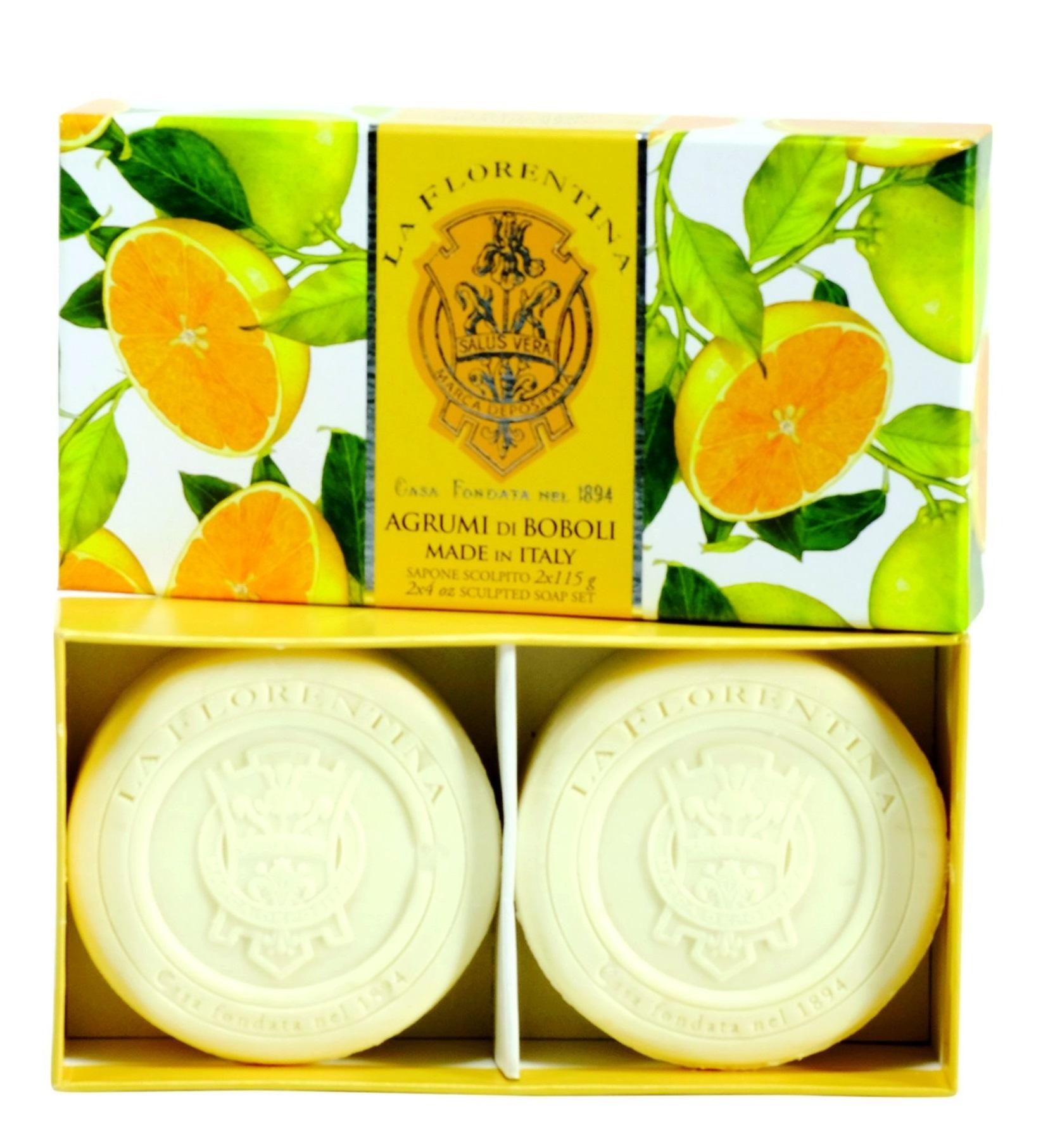 LA FLORENTINA Набор натурального мыла, цитрус / Citrus 2 х 115 г