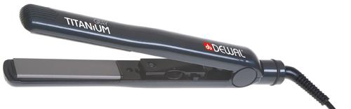DEWAL PROFESSIONAL Щипцы-выпрямители Gray Titanium, с терморегулятором, титаново-турмалиновое покрытие, 25х90 мм 105 Вт