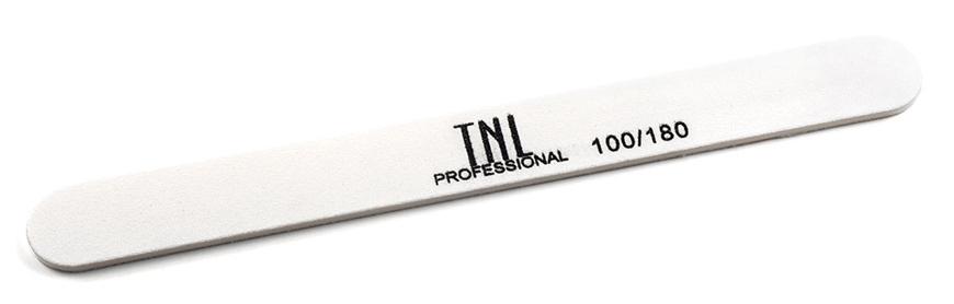 TNL PROFESSIONAL Пилка узкая для ногтей 100/180, белая (в индивидуальной упаковке)