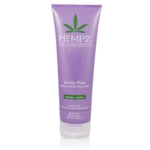 HEMPZ Гель для душа Ваниль&amp;Слива / Vanilla Plum Herbal Body Wash 250млГели<br>Расслабляющий гель для душа Ваниль и Слива на основе 100% натурального масла семян конопли, содержит ультра-мягкие очищающие ингредиенты, смягчающие и увлажняющие кожу после каждой ванны, после каждого душа. Активные компоненты: уникальный комплекс Herbal Moisturizer,Масло семян конопли, Масло дерева ши,экстракт корня женьшеня, Витамины А, С и Е. Способ применения:&amp;nbsp;гель для душа: Массажными движениями нанести на влажную кожу. Обильно смыть водой. Пена для ванны: Для образования ароматной пенки, небольшое количество геля добавить в наполняемую ванну. Для получения наилучшего результата используйте в комплексе с любым Растительным увлажняющим молочком Herbal Moisturizer из серии Hempz или с Питательным кремом для тела Hempz Body Butter.<br><br>Объем: 250 мл<br>Вид средства для тела: Увлажняющий