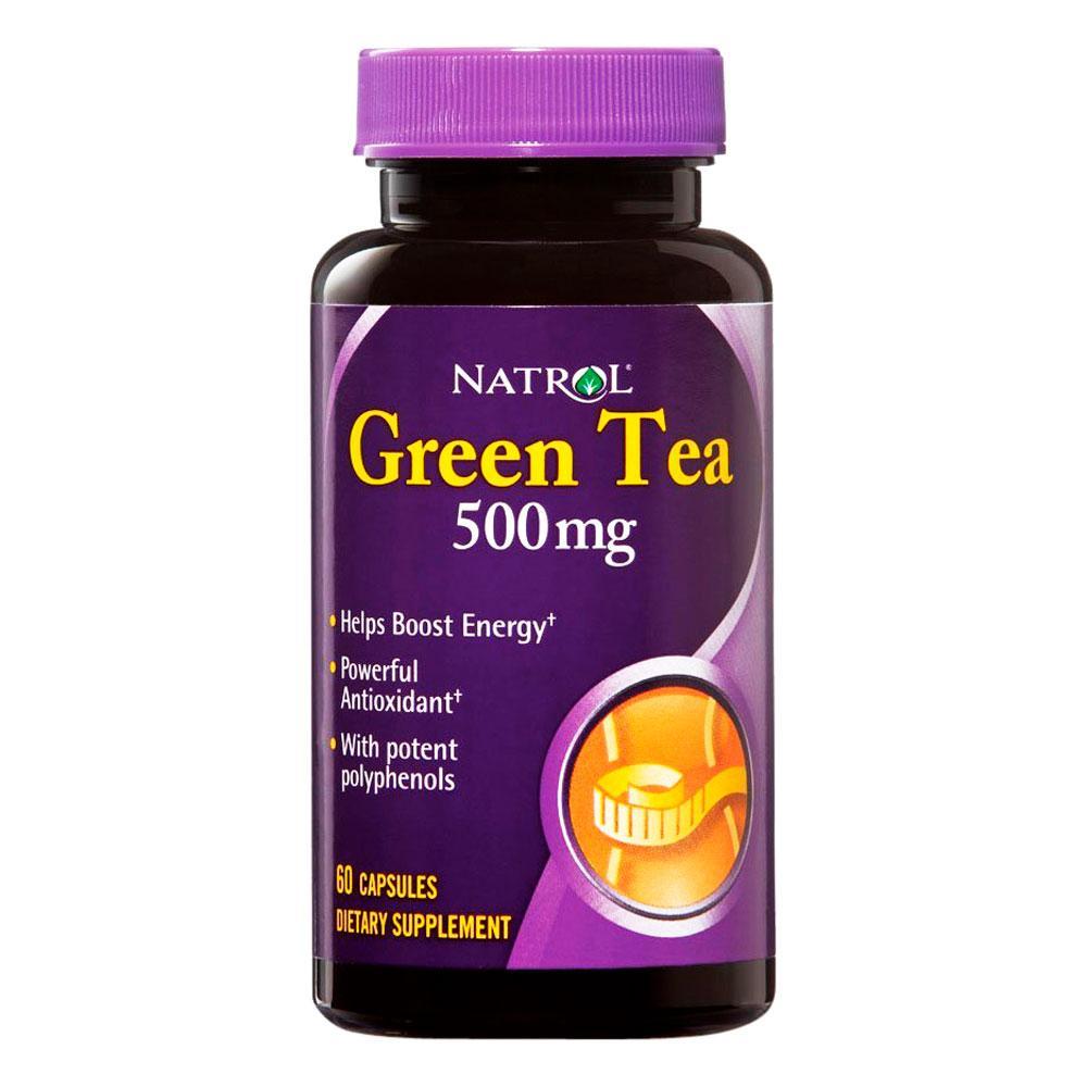 Купить NATROL Добавка биологически активная к пище Натрол грин ти / Green Tea 500 мг 60 капсул