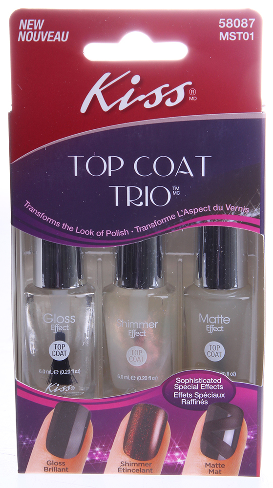 "KISS ����� �������� ��� �������� ""��� ����"" / Topcoat Trio 3*7,5��"