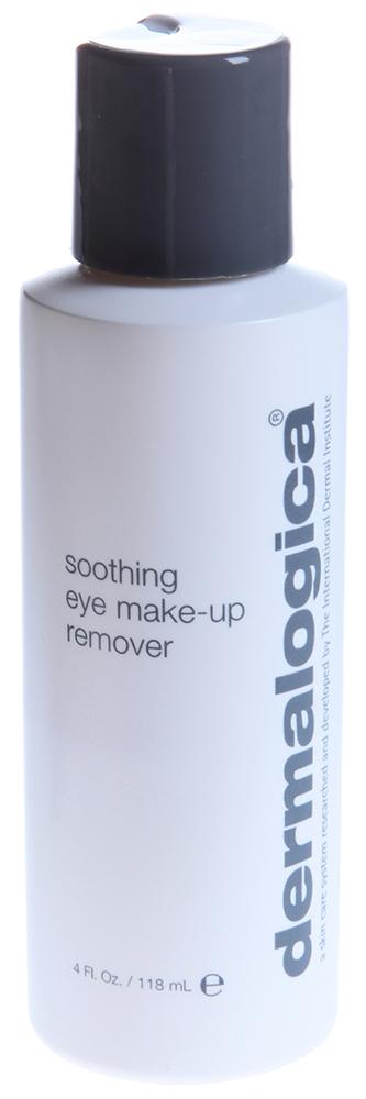 DERMALOGICA Очищение мягкое для глаз / Soothing Eye Make Up Remover 118млОсобые средства<br>Мягкое очищение для глаз Soothing Eye Make Up Remover - это нежный гель, не содержащий масел и спирта. Гель быстро и бережно удалит остатки макияжа с глаз и губ. В составе геля &amp;ndash; протеины шелка, содержащие аминокислоты, которые укрепляют ресницы. Мягкое средство подходит даже тем, кто носит контактные линзы.  Активные ингредиенты: Протеины шелка.  Способ применения: Нанесите небольшое количество продукта на влажный ватный диск и легко удалите косметические средства с глаз и губ.<br><br>Вид средства для лица: Нежный