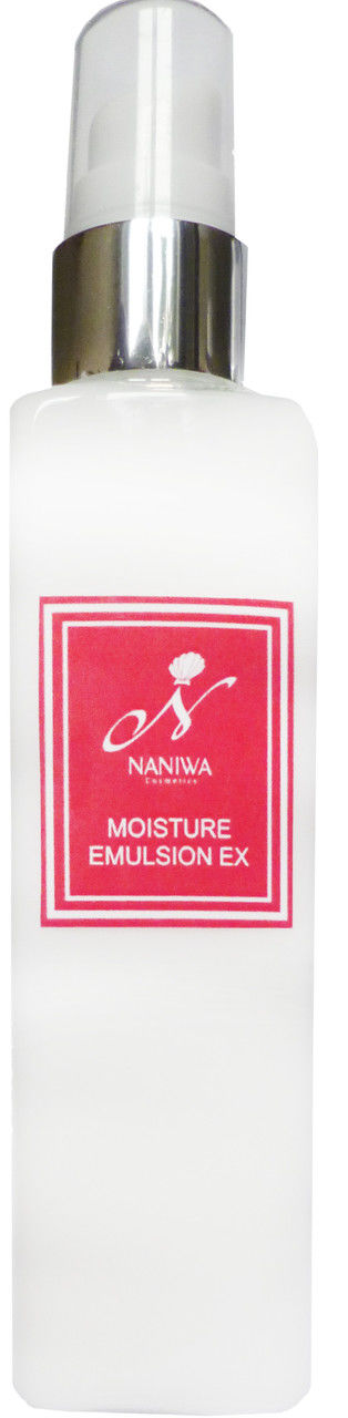 NANIWA Эмульсия увлажняющая Moisture emulsion EX 100млЭмульсии<br>Увлажняющая эмульсия имеет консистенцию легкого крема, глубоко проникает в кожу. Содержит активные компоненты, заключенные в нанокапсулы: нано-формула гиалуроновой кислоты, гидролизированный коллаген и олигопептидные комплексы. Благодаря натуральным маслам, экстрактам растений, фитостеролам, витаминам, керамидам и эфирам масел насыщает кожу полезными веществами, что особенно важно для сухой, чувствительной кожи. Задачи: увлажнение, лифтинг, противовоспалительное, восстанавливающее действие, насыщение тканей кислородом; защита кожи от УФ-лучей, укрепляющее действие, стимуляция тканевого дыхания. Способ применения: взять небольшое количество средства на ладонь и легкими движениями нанести на лицо, шею и декольте по массажным линиям. Активные ингредиенты. Состав: Вода, BG, масло жожоба, масло авокадо, масло Ши, пентиленгликоль, бегениловый спирт, глицерилстеарат, никотинамид, полиглицерил-10 изостеарат, глицерин, аргановое масло, масло асаи, глицерил глюкозид, экстракт водорослей Арамэ, олигопептид 20, ацетил гексапептид-8, ацетил декапептид-3, олигопептид -24, гексокарбоксиметильный дипептид-12, гидрогенизированный лецитин, соевый стерол, керамиды NS, керамиды NP, керамиды AP, гидролизованный коллаген, экстракт центеллы азиатской, экстракт граната, экстракт швейцарского садового кресса, гексил 3-глицерил аскорбат, C12-13 алкилглицерид наногиалуроновой кислоты, эфиры масел жожоба и макадамии, сквален, фитостеролы масла макадамии, фитостеролы, токоферол, масло шиповника, масло розы Дамасской, лецитин, ретинола пальмитат, диметикон, каррагенан, карбомеры, гидроксид натрия, лимонная кислота, цитрат натрия, феноксиэтанол, экстракт орхидеи, экстракт энотеры, экстракт листьев альпинии пониклой.<br><br>Объем: 100 мл
