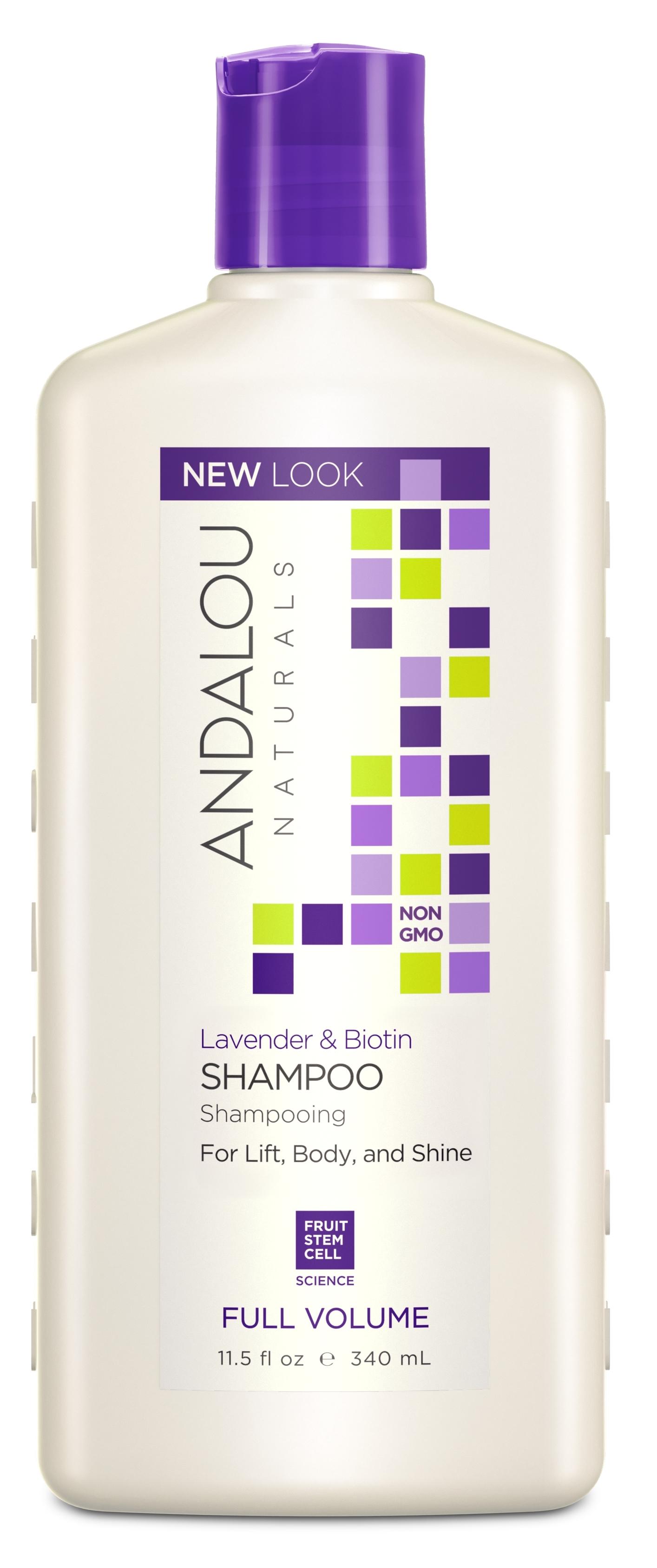 ANDALOU NATURALS Шампунь для объема волос Лаванда и биотин 340 мл