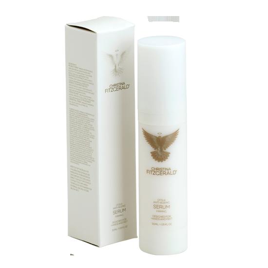 CHRISTINA FITZGERALD Сыворотка пептидная антивозрастная / CF3+4 30млСыворотки<br>Коктейль из тщательно подобранных высокоактивных компонентов. Устраняет возрастные и пигментные пятна, обеспечивая идеальный ровный цвет и сияние кожи. Защищает от воздействия ультрафиолетовых лучей и предупреждает появление морщин. Антиоксиданты глубоко увлажняют кожу и повышают ее эластичность. Жемчужный пурин (из речного жемчуга) способствует восстановлению, делает кожу гладкой и эластичной. Защищает от УФ-лучей типа А, В, что подтверждено клиническими исследованиями. Экстракт родиолы (корень артика) - мощный антиоксидант, защищает от вредного воздействия окружающей среды. Пептид Р3 - гладкость, чистота и сияние. Разглаживает морщины, выравнивает цвет кожи. Венуциан замедляет процесс старения, защищает структуру клеток от вредного воздействия УФ-лучей типа А, В. Эффект клинически доказан. Мощное оружие против старения в Ваших руках! Активные ингредиенты: жемчужный пурин (из речного жемчуга), экстракт родиолы (корень артика), пептид Р3, венуциан. Способ применения: нанесите тонким слоем на руки и ноги и оставьте. Совет: используйте сыворотку перед нанесение любого крема Christina Fitzgerald. Усиливает антивозрастное действие. Сыворотку можно наносить на любую часть тела. Роскошный коктейль из антивозрастных компонентов. Эффективная борьба с признаками старения.<br><br>Вид средства для тела: Антивозрастное