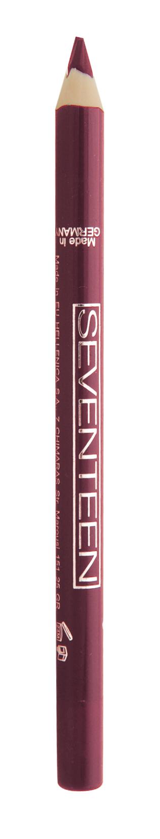SEVENTEEN Карандаш водостойкий с витамином Е для губ, 15 кроваво-красный / Super Smooth W/P Lip Liner 1,2 г