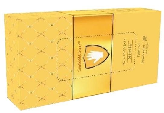 Купить SAFE & CARE Перчатки нитриловые, золотистые, размер S / Safe & Care 100 шт